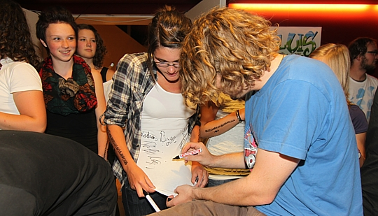 Autogrammjagd im Kulturzentrum Sillian